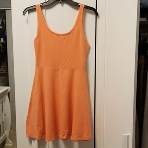 Express coral skater dress